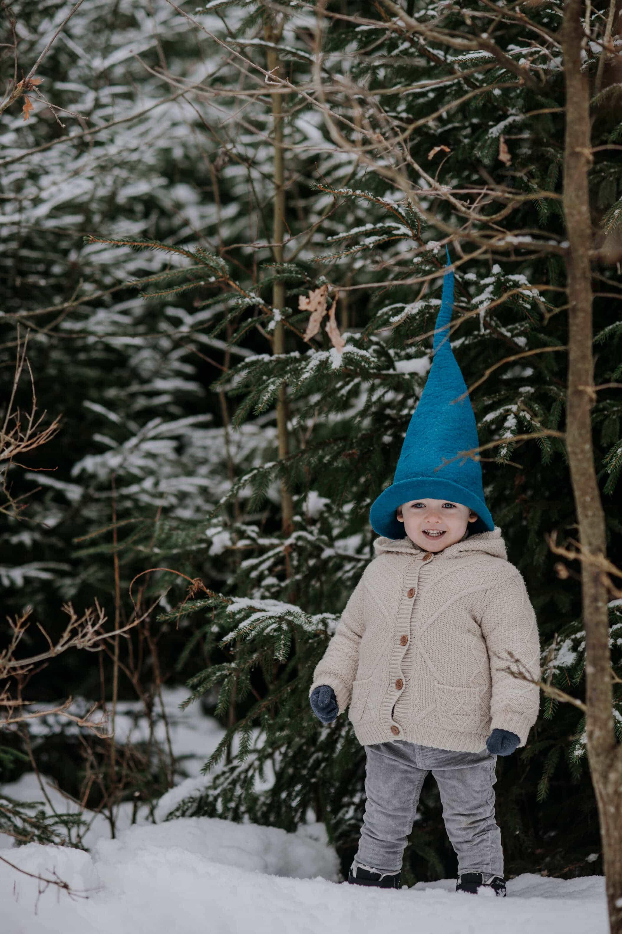 czapka dziecięca spiczasta