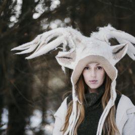 czapka kostiumowa z porożem jelenia