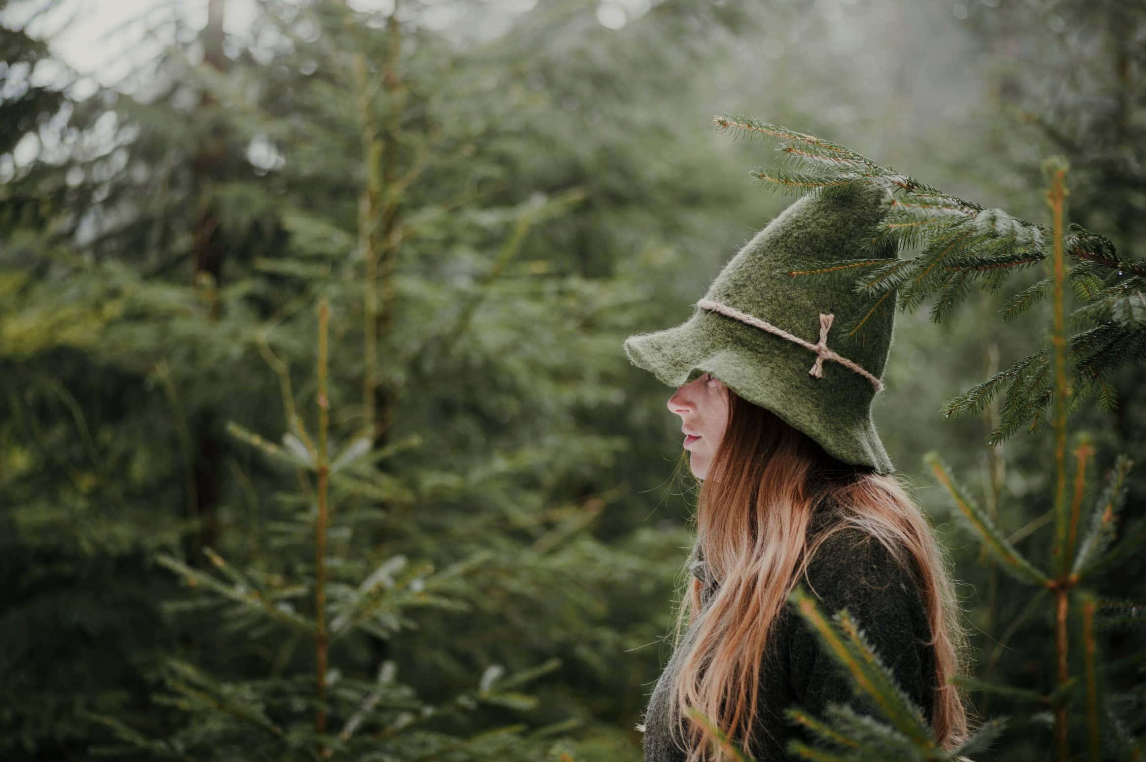 zielona czapka włóczykija