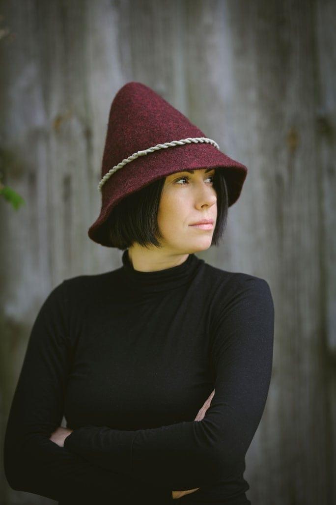 kapelusz z filcu