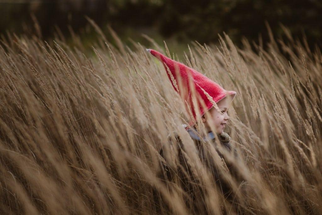 czapka elfa gnoma krasnoludka czerwona