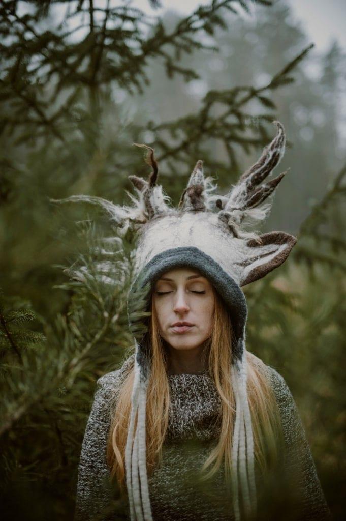 lesna nimfa z rogami