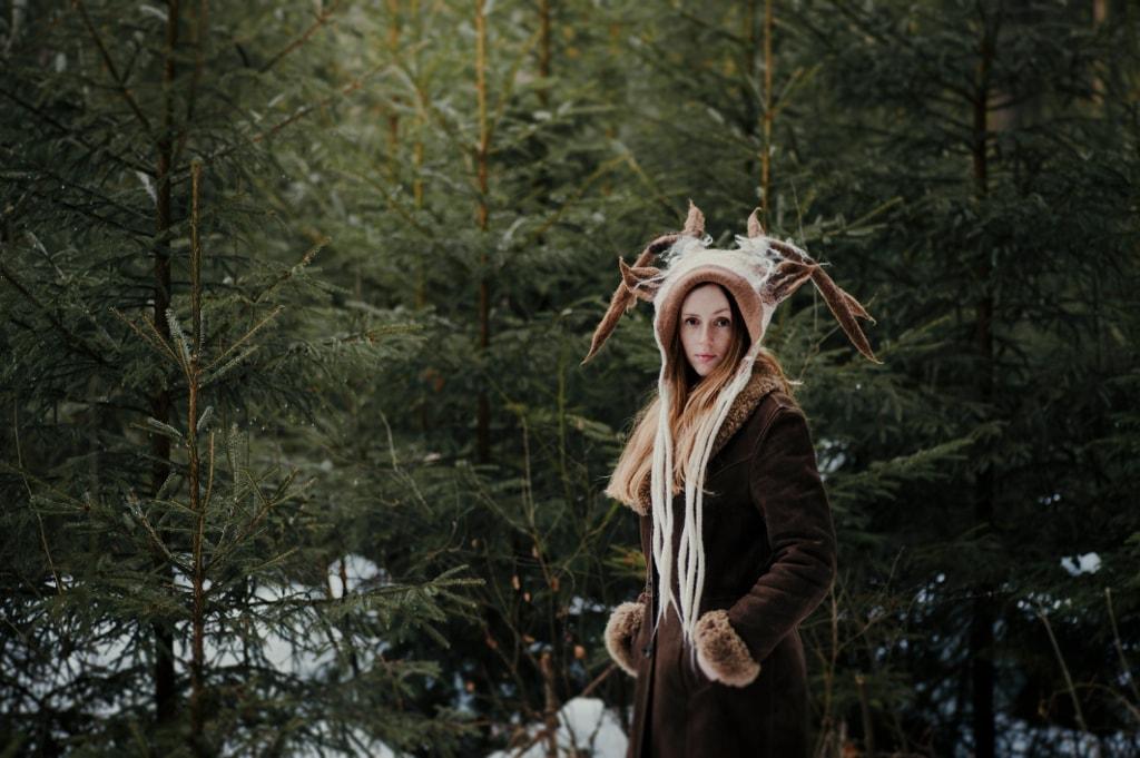 rusałka leśna czapka kostiumowa