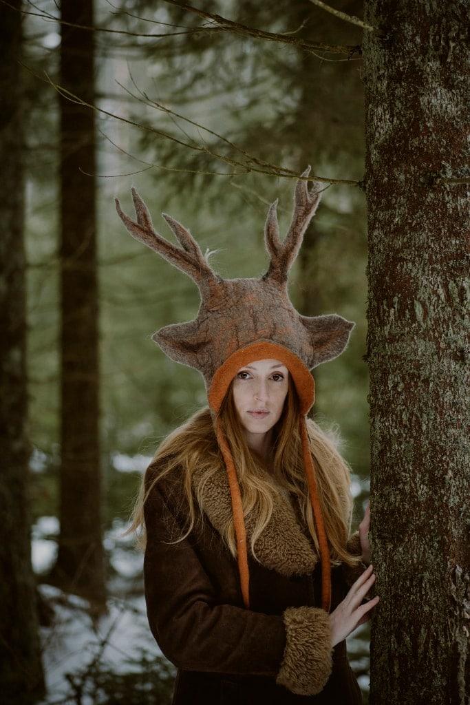 czapka jelenia