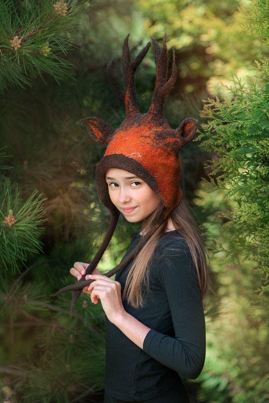 czapka jelenia dla dzieci