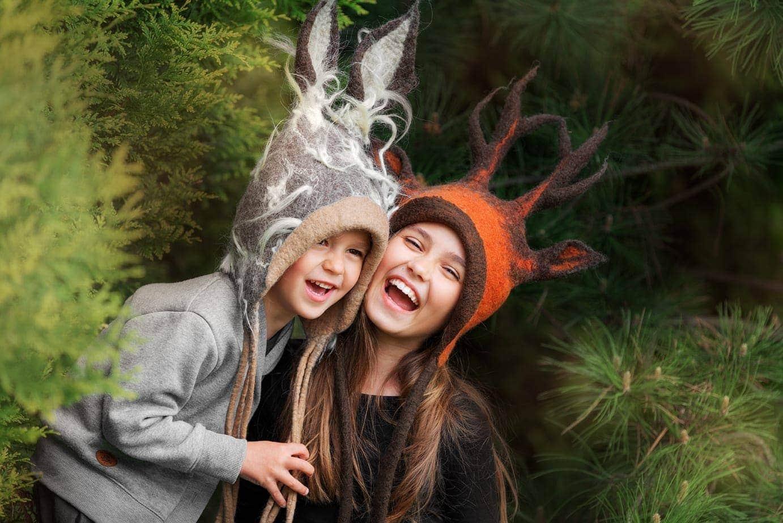 czapki zwierzaki dla dzeci
