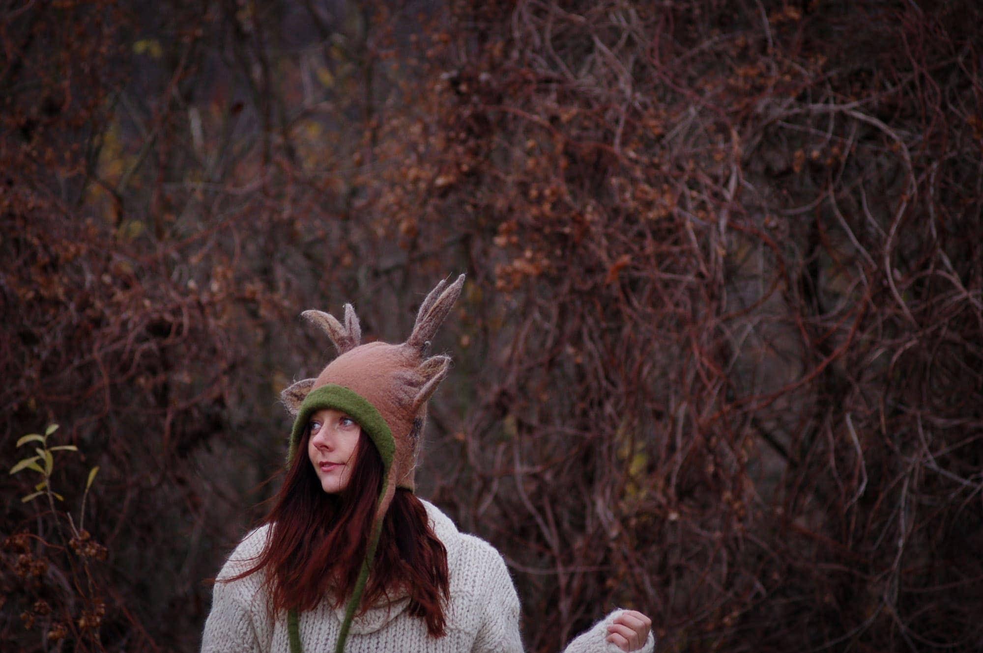 czapka z rogami
