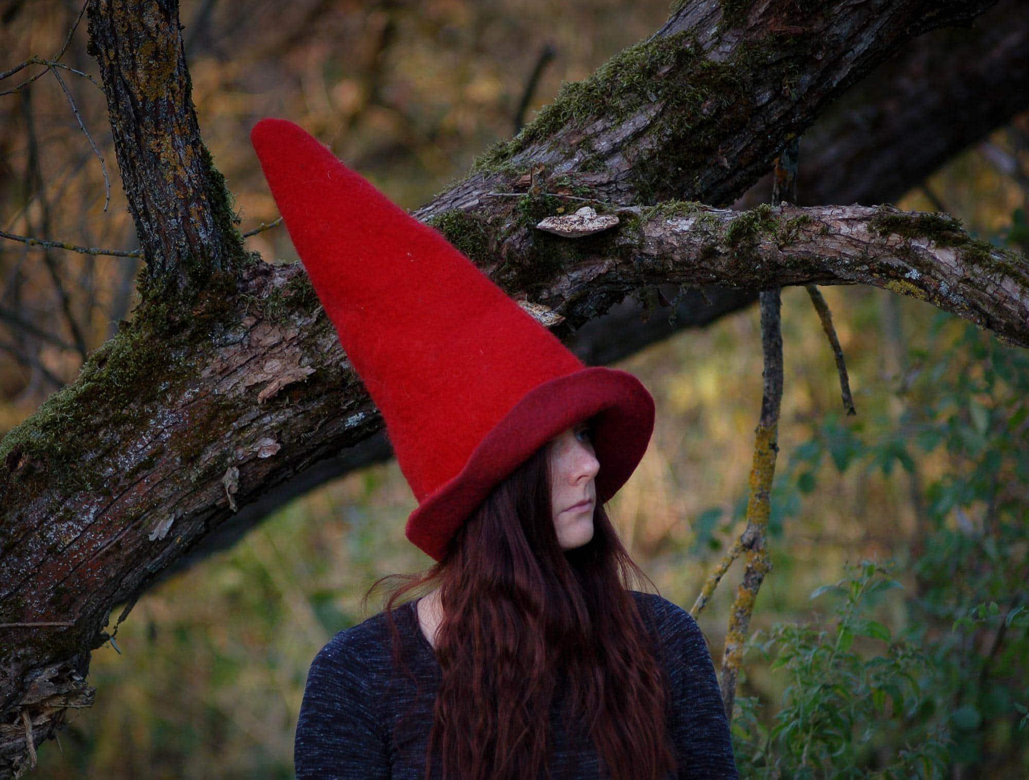 czerwona czapka czarownicy