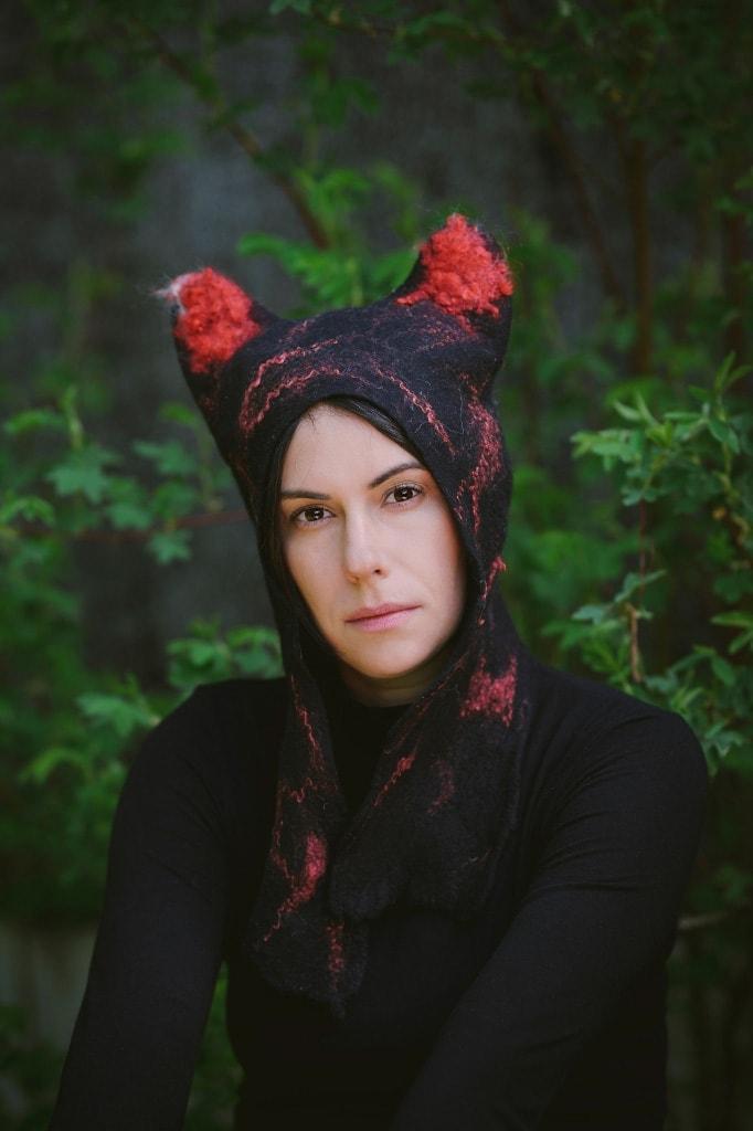 czapka z uszami kota czapka zwierzak